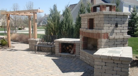 Edington Fireplace, Patio, and Pergola