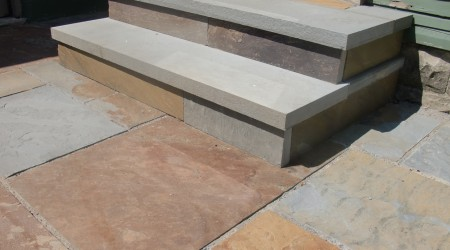 Bluestone Steps and Patio