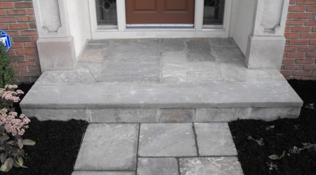 Bluestone Step and Walkway