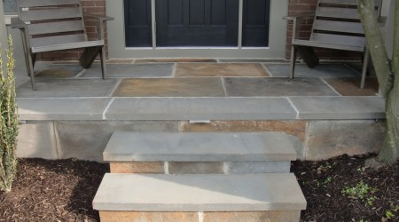 Bluestone Porch with LED Lighting