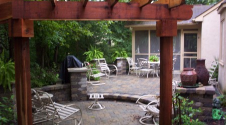 Pergola, Patio, & Seatwall