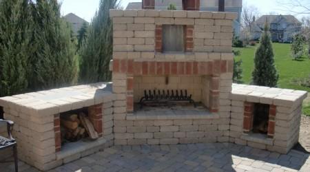 Edington Wall Stone Fireplace