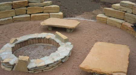 Firepit with Sitting Space