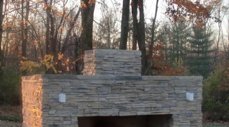 Fall Fireplace and Seatwall