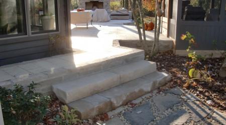 Natural Limestone Steps