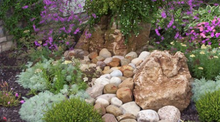 Water Feature with Dry Stream Bed