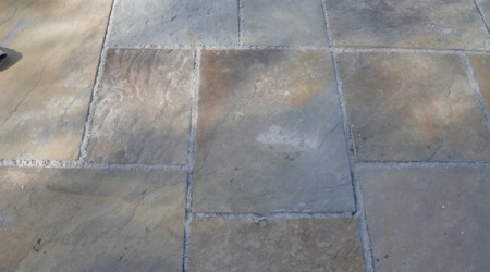 Closeup of Bluestone Tiles