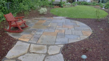 Flagstone Path to Bluestone Patio