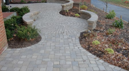 Circular Paving with Seatwall
