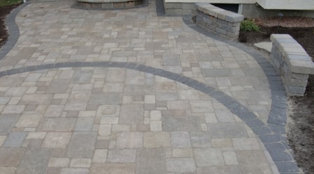 Belhaven Pavers with Granite Soldier Course