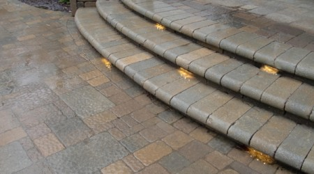 Bullnose Steps with LED Lighting