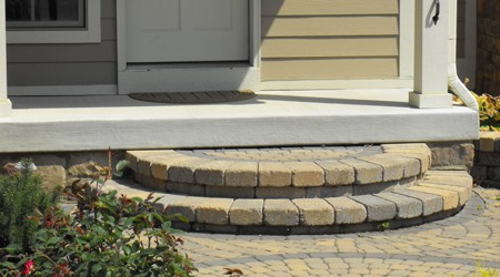 Circular Steps and Paver Design