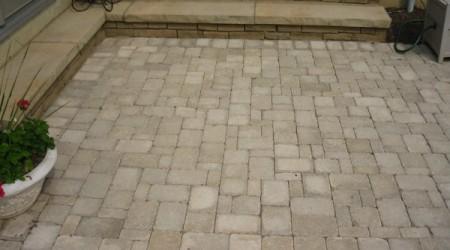Cut Sandstone Steps & Belhaven Pavers