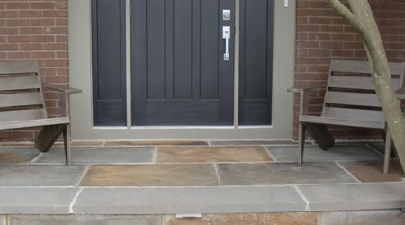 Bluestone Stoop Retrofitted from Concrete