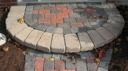 Antique Blend Concrete Paver Step
