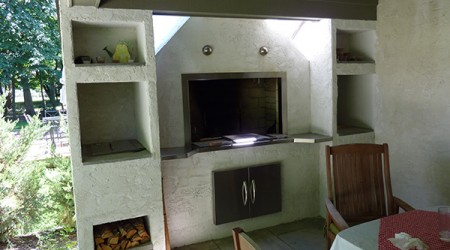 Stucco Fireplace and Cooking Space