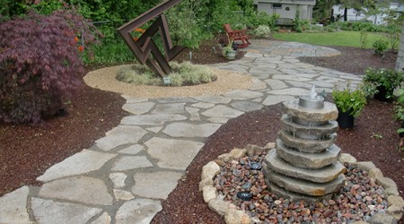 Water Feature and Artwork