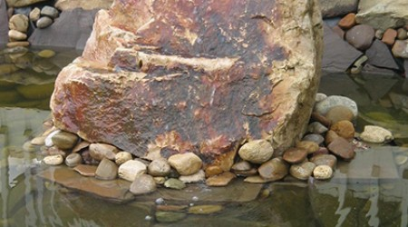 Bubbling Rock in Pond