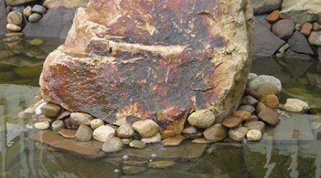 Bubbling Rock in Pond
