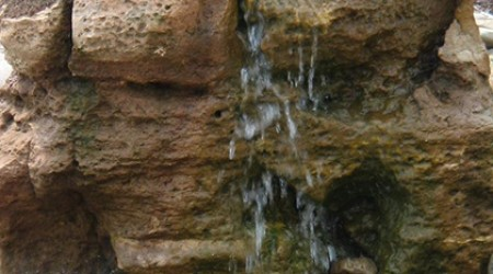 Unique rock water feature