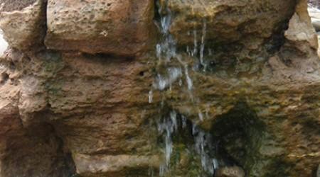 Unique rock water feature