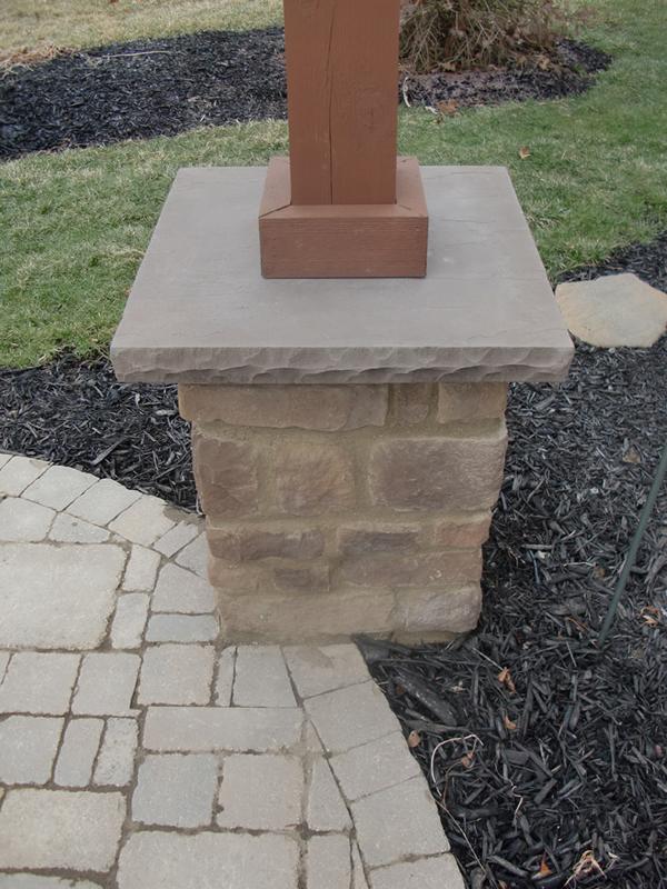 Cultured Stone Columns : Custom masonry spellacy s turf lawn inc
