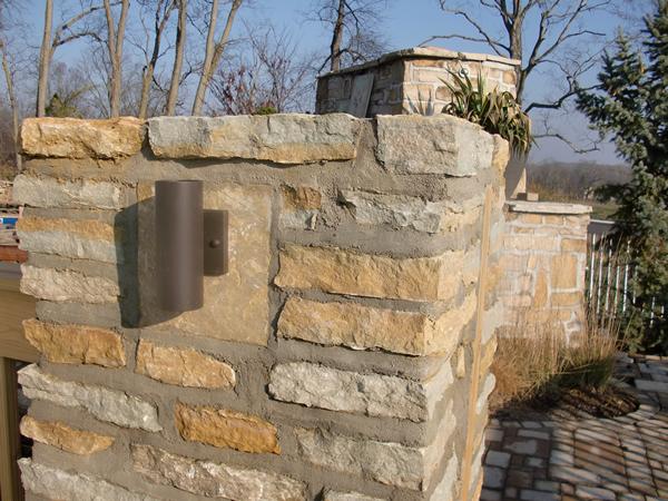 Stone Pillar Lighting : Custom masonry spellacy s turf lawn inc
